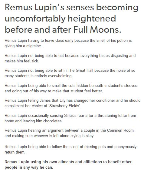 I don't think I can ever not love Remus. They need to make a movie about him, just him. And maybe Sirius. James can be there to. And Charlotte of course. Just turn my fanfic into a movie OKAY