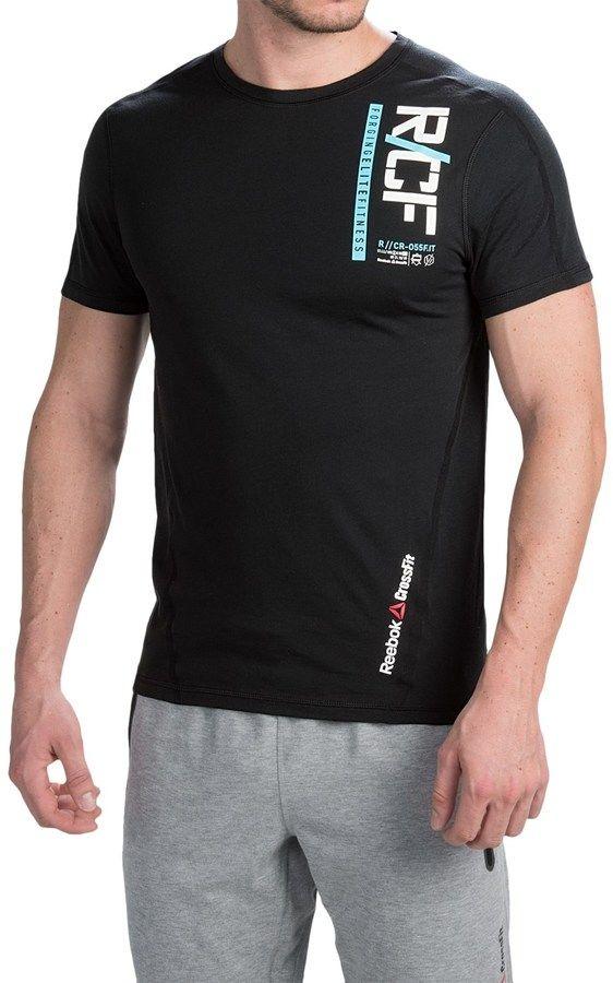 Reebok CrossFit® Graphic T-Shirt - Slim Fit, Short Sleeve (For Men), Fitness Fashion Trends Crossfit Men Mode Männer Sport - trendy CrossFit Outfits for him - CrossFit Outfits für Ihn. Von Schuhen über Bekleidung bis hin zu Accessoires.