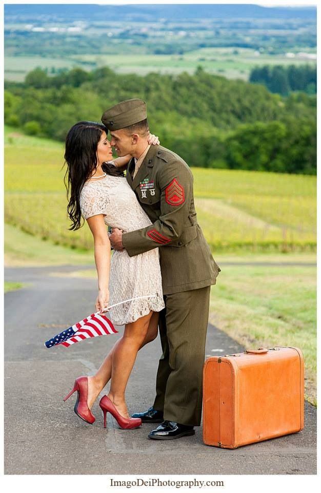 Love & Lace  Our Marine Corps, vintage-themed engagement photos taken by Xiomara Gard at Imago Dei Photography    http://imagodeiphotography.com/  Wine vineyard
