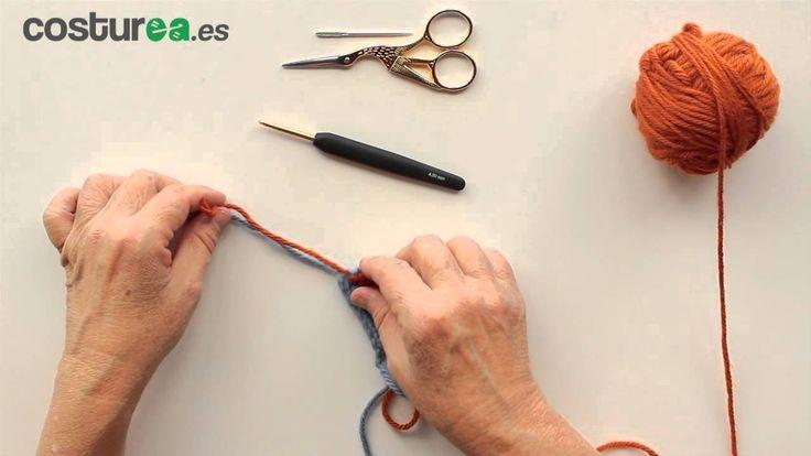 Cómo cambiar ovillo de distinto color a ganchillo