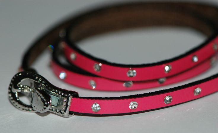 Multiturns fuchsia leather bracelet