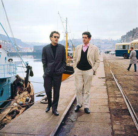 Le compositeur Michel Legrand et le cinéaste Jacques Demy...
