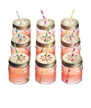 Mason Jar Sippers by acmepartybox.com via realsimple: So cute! #Mason_Jar_Sippers #realsimple #acmepartybox