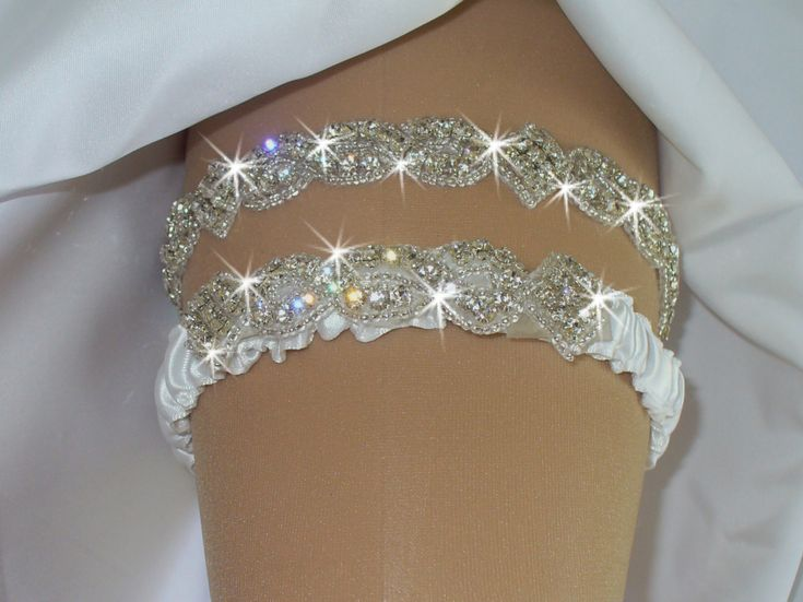 Keepsake Garter Set, Destination Wedding, Original Rhinestone Wedding Garter Set, Toss Garter, Bridal Garter Set, 12 Colors by bridalambrosia on Etsy
