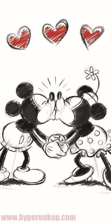 Bavlnená osuška Disney Mickey & Minnie
