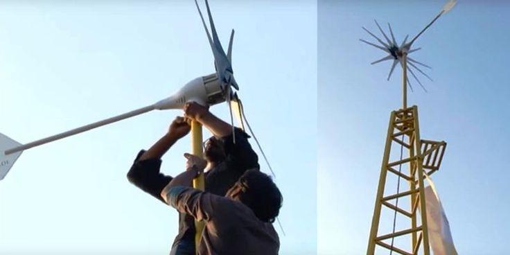 éolienne : Cette éolienne conçue par deux frères indiens est capable de produire assez d'électricité pour alimenter une maison entière pendant