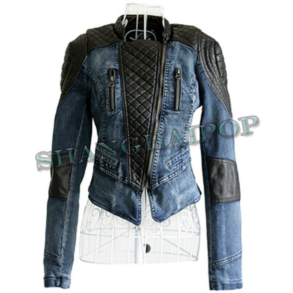 Fitted Denim Jacket Womens   Outdoor Jacket