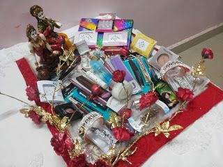 Rose n Wrap: Cosmetic Packing done on Radha Krishna Theme