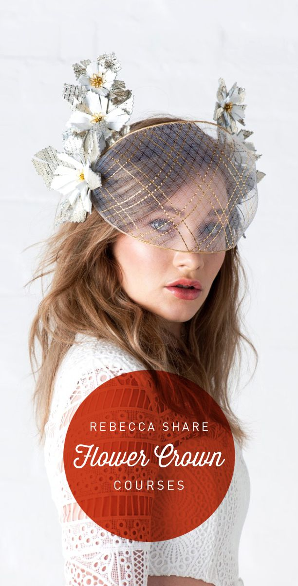Master Milliner Rebecca Share is excited to teach all her unique #millinery techniques throughout these courses.
