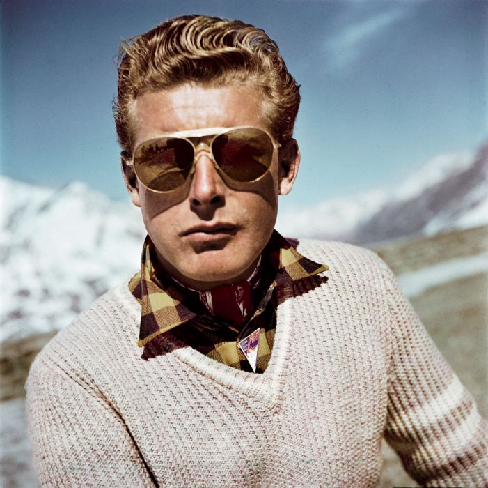 Hello, handsome.  Photos: Robert Capa's Color Pictures of International Ski Resorts | Vanity Fair