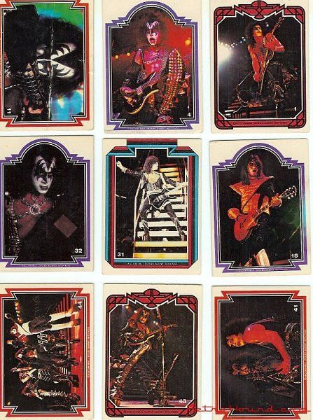 KISS swap cards from the 1970s.