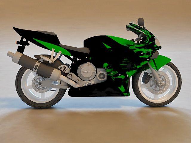 Honda Cbr Sport Bike 3d Model 3d Studio 3ds Max Object Files Free