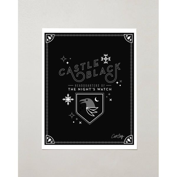PRODUCTS :: LIVING AND DESIGN :: Accessories and Decorations :: Prints :: Castle Black – Game of Thrones Tribute