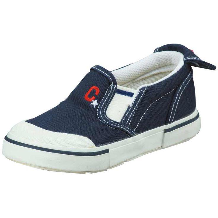 ムーンスター キャロット 子供靴 CR ST14 ネイビー 足の成長と健康をサポートする上履き