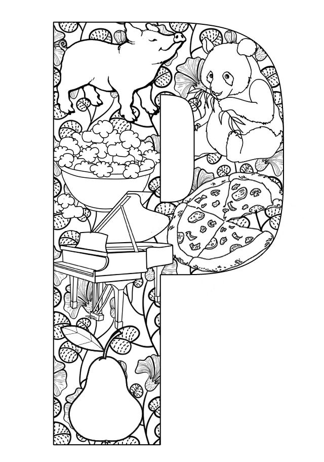 Things that start with P - Free Printable Coloring Pages