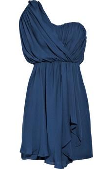 blue: Cocktails Dresses, Silk Dresses, Style, One Shoulder Dresses, Blue Dresses, Color, Bridesmaid Dresses, Draping Silk, Prom Dresses