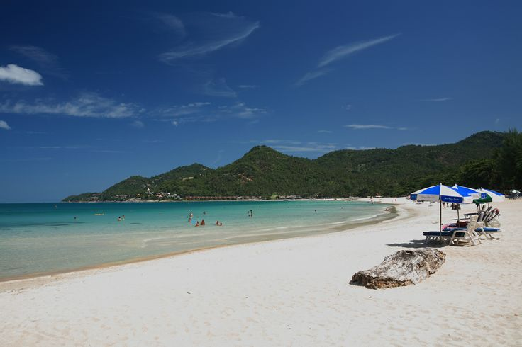 Chaweng beach, Kho Samui, Thailand.  An island off the east coast of Thailand, reached by ferry.  Very popular with European travelers, especially over year end.  Hotels fill up completely!