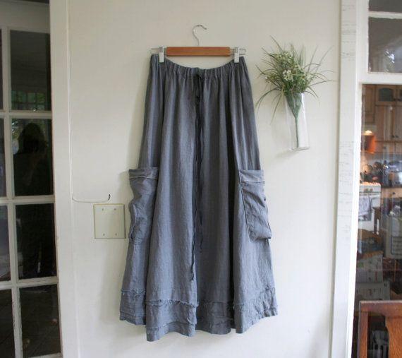 Linen Clothes / 'Urban Prairie Skirt' / by by BreatheAgainClothing