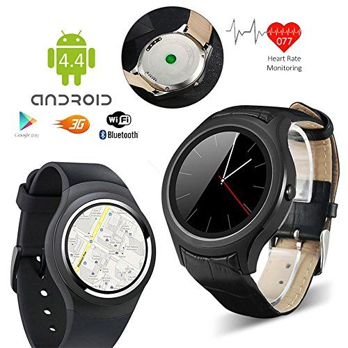Indigi Waterproof Android 4.4 Smartphone Watch (3G+WiFi) Google Play Store Heart-Rate Monitor GSM UNLOCKED!   Introducing Most Powerful Indigi A6 Android 4.4 OS 3G Smart Watch Cell Phone - featuring a 1.54in Capacitive Color Touch Screen Display that even has built-