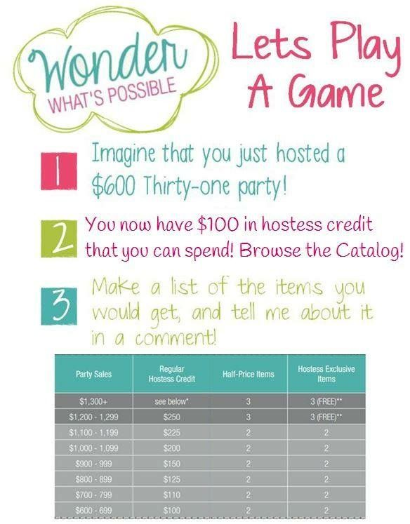 Thirty One Party Hostess Benefits
