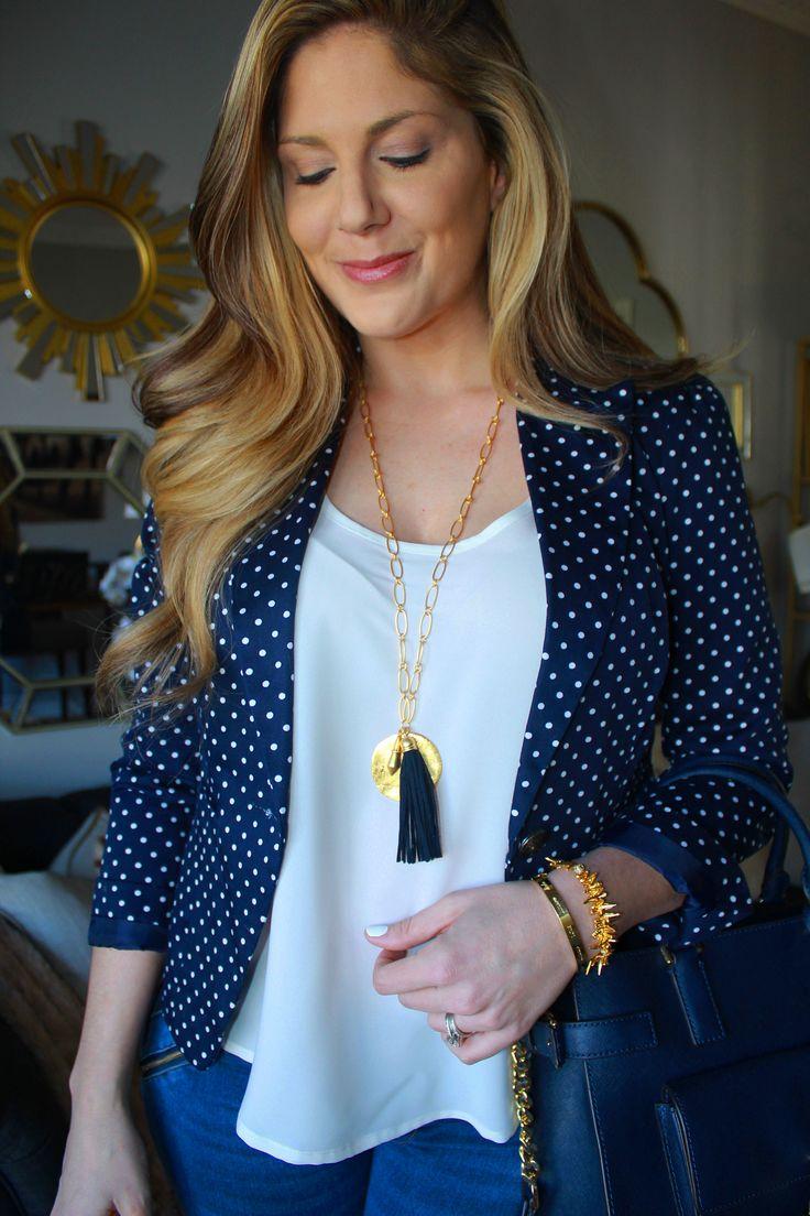 Stella & Dot Carla Tassel necklace, Renegade Cluster bracelet, and Love bangel