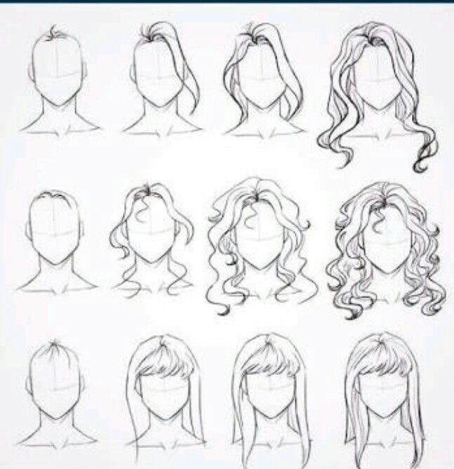 Hair 3 Dani Drawing Hair Tutorial How To Draw Hair Step By Step Sketches