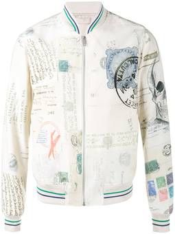 letters from India bomber jacket