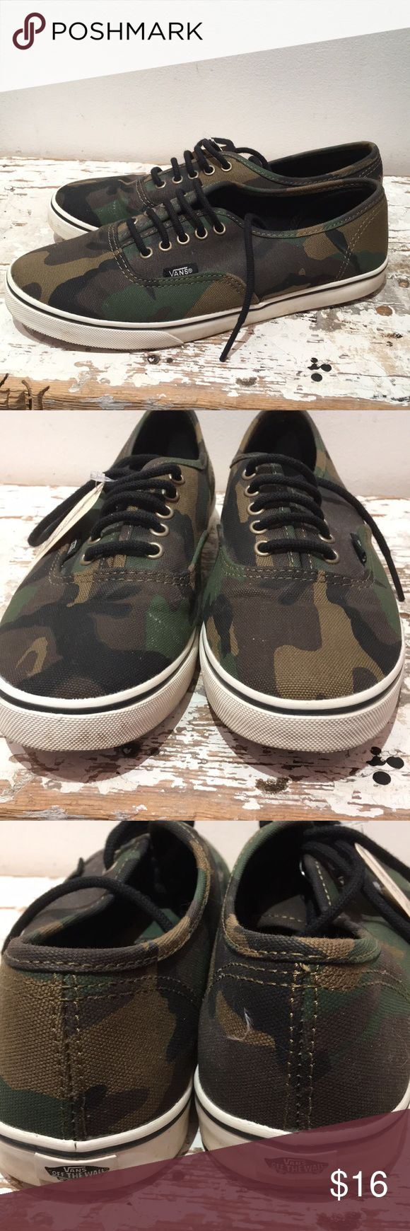 Vans Camo Vans Sneakers. Good condition. Not worn much. Some scuffs on side of white rubber sides. See photos. Vans Shoes Sneakers