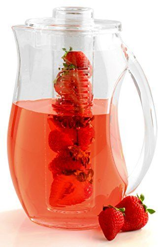 Decodyne Fruit Infusion Pitcher Did you know that most people don't drink enough water to stay healthy and well hydrated?  It's easy to understand why–water is so boring. Or at least it used to be! With the Decodyne Fruit Infusion Pitcher water becomes a tasty treat that everyone... - http://kitchen-dining.bestselleroutlet.net/product-review-for-fruit-infusion-pitcher-shatter-proof-acrylic-3-quart-by-decodyne/