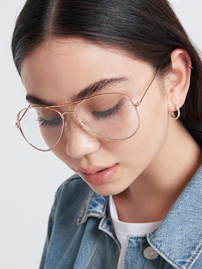 d91f5f4231f2 Bella Clear Lens Aviator Glasses