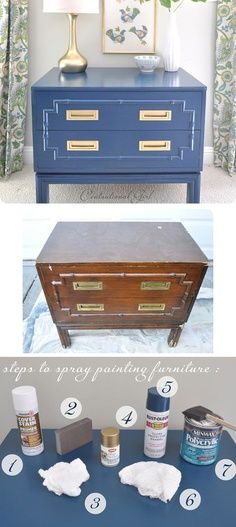 DIY – Spray Painting Furniture – Full Step-by-Step Tutorial with lots of tips and information to achieve a perfect, smooth finish. | best stuff