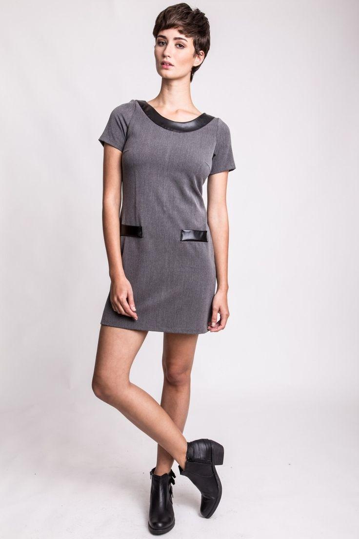 Vestido Lucy Con Cuero Estancias Chiripa - $ 355,00 en MercadoLibre