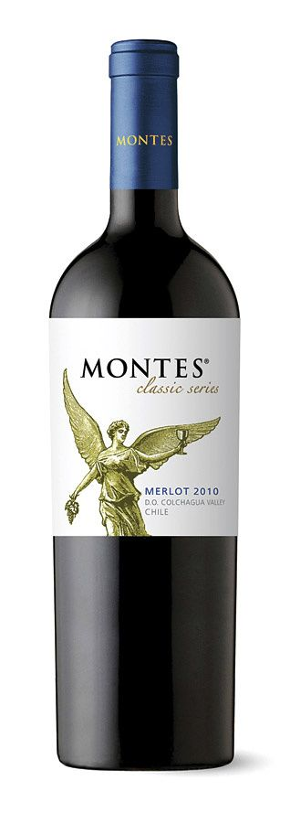 Montes Merlot 2010.  PRECIO $125.  Este vino es un 85% Merlot y 15% Cabernet Sauvignon que se cría en barricas de roble americano durante seis meses.