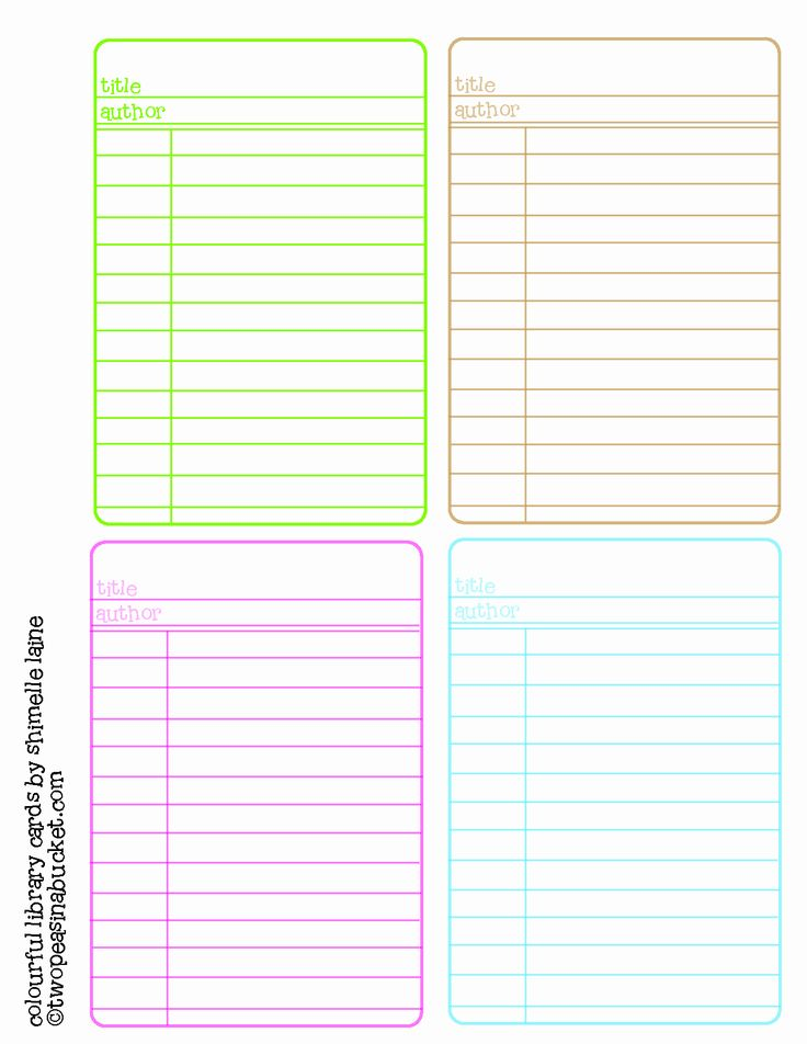 Library Checkout Card Template Elegant Download Library Card Template Microsoft Word Free Card Template Card Templates Printable Recipe Cards Template