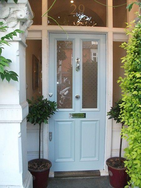 Farrow and Ball parma grey lovely door colour