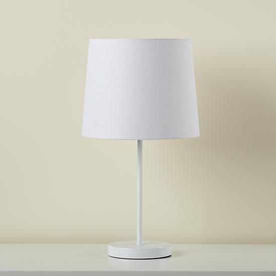 Shade For Table Lamp: Light Years White Table Shade and White Base | The Land of Nod,Lighting