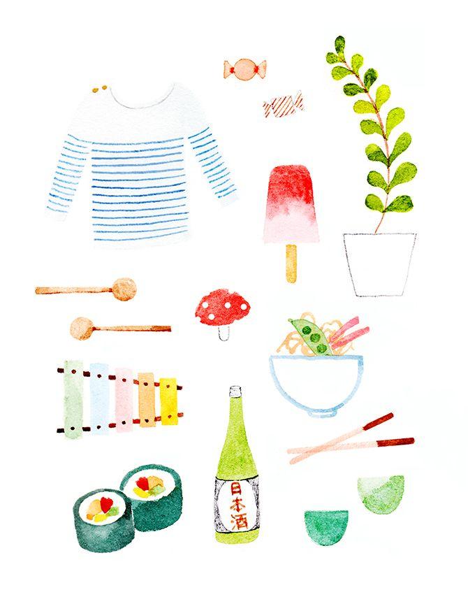 SUMMER IN JAPAN - Amy Borrell   Illustration & Design
