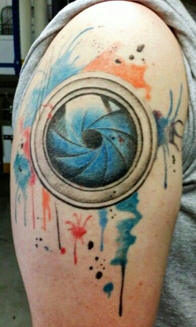 camera lens tattoo : watercolor camera lens tattoo sleeve ...