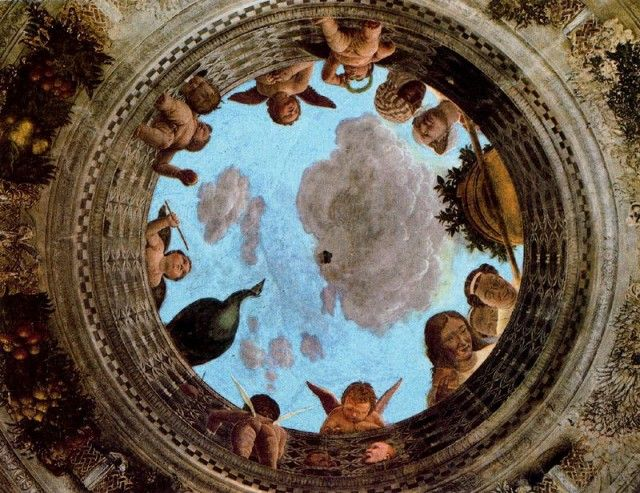 Andrea Mantegna - Central Oculus Ceiling Camera spouses