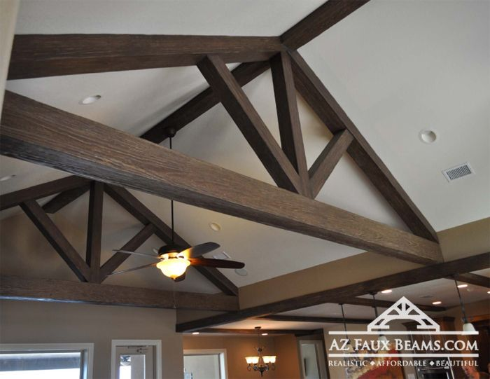 Pin by natalie flowers on for the home pinterest for Fake wood beams for ceiling