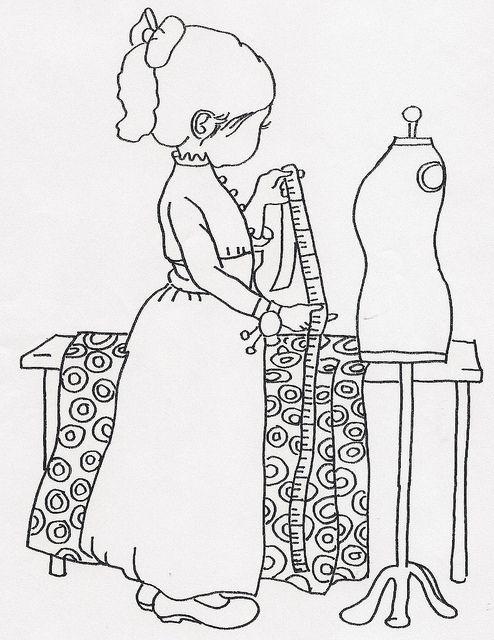 girl measuring fabric by jeninemd  via flickr