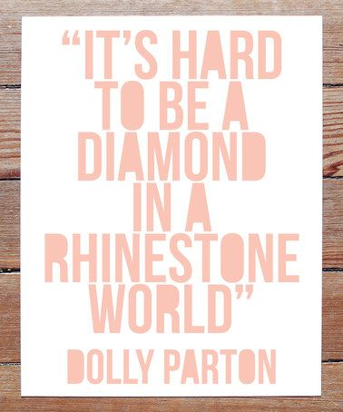 Look what I found on #zulily! 'Rhinestone World' Dolly Parton Art Print #zulilyfinds