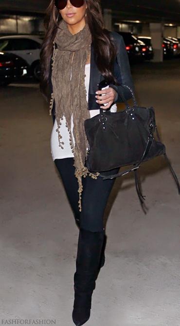 darks; jacket + scarf + boots. <3