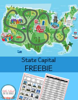 This FREEBIE is a great way to review the state capitals! It contains a state capital list as well as a state capital activity. The COMPLETE unit contains the following activities:Where is the United States? - Map ActivityFind the State, Activity 1 Map ActivityFind the State, Activity 2 Map ActivityState Birds Matching ActivityWhats Your Nickname?
