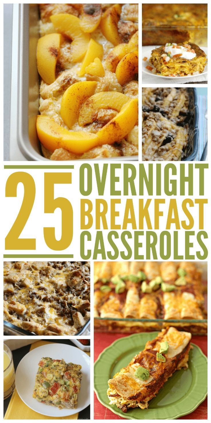 No time in the mornings? Try making these 25 overnight breakfast casseroles the night before. We love to make overnight breakfast casseroles because they are so darn easy and feed the whole family a delicious meal! This list of 25 overnight breakfast casseroles is all you need to get you through any holiday.
