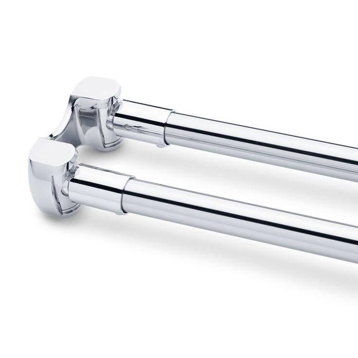 Straight Double Shower Curtain Rod