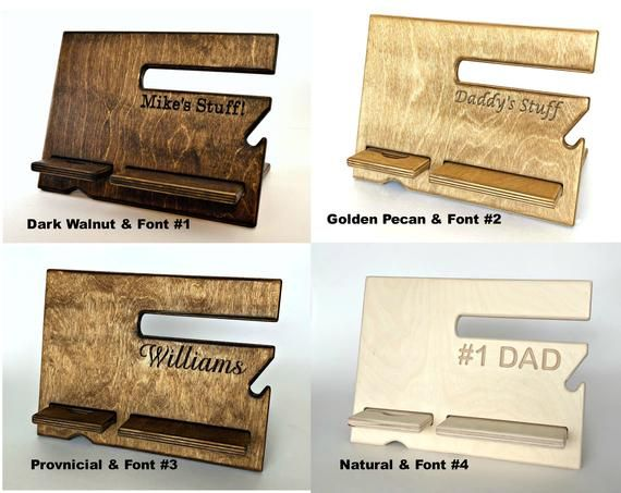 Wood Father Day Gift Wooden Gift Wooden Fathers Day Fathers Etsy Wood Docking Station Wooden Docking Station Docking Station