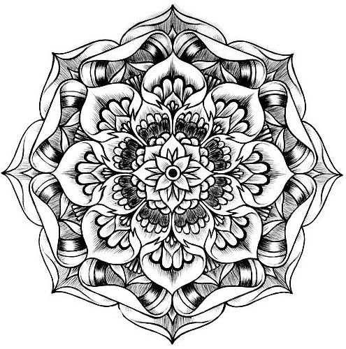 Find mandala images online and print out for coloring pages! Could be used for school aged or teens!