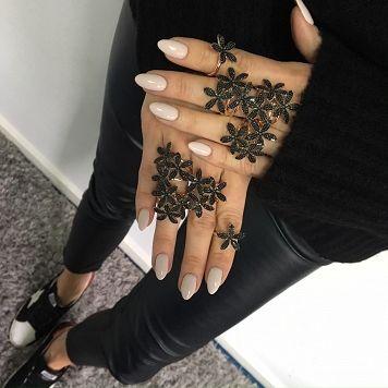 """Ring """"3 Black Lilies"""" Rose"""