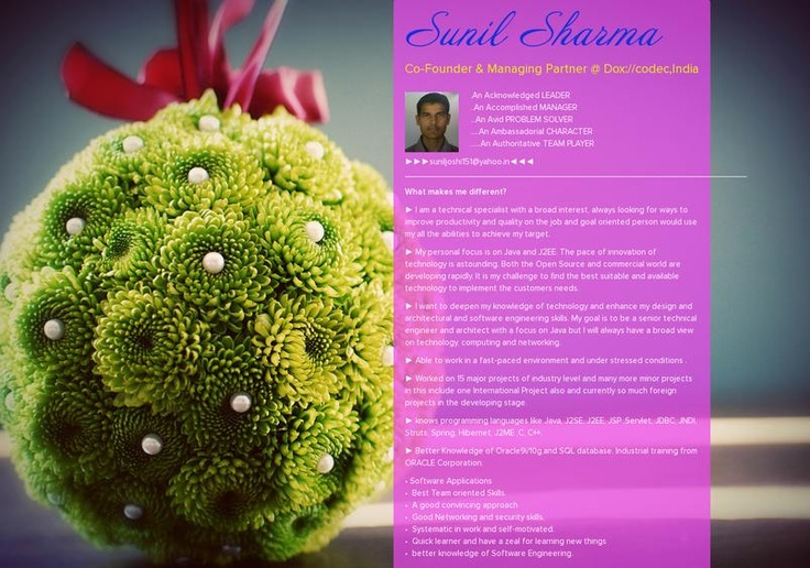 Sunil Sharma's page on about.me – http://about.me/suniljoshi151
